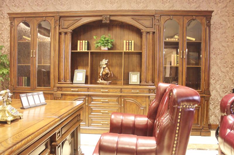 高端美式总裁办公室_环境图片
